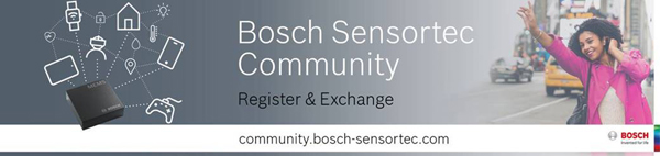 Register or Login to the Bosch Sensortec Community
